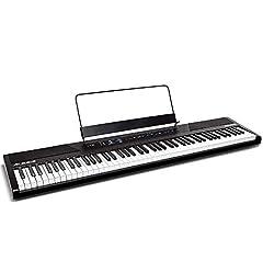 Alesis Recital – 88-knops instapmodel digitale piano/e-toetsenbord met semi-gewogen toetsen, ingebouwde 20 watt luidsprekers en vijf premium stemmen, 3-maanden abonnement Skoove en voeding inbegrepen*