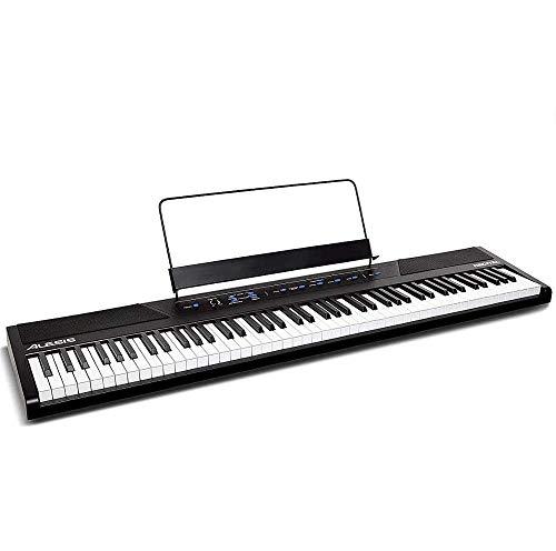 Alesis Recital - 88-Tasten Einsteiger Digital Piano Keyboard mit halbgewichteten Tasten, eingebaute Lautsprecher, Premium-Stimmen, 3-Monatsabo Skoove