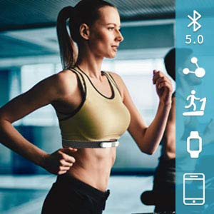 Wellue VisualBeat Bluetooth Heart Rate Monitor Chest Strap for Exercise with Alarm, ANT+ Waterproof Fitness Tracker, Wireless Wearable Monitor Recorder HRM