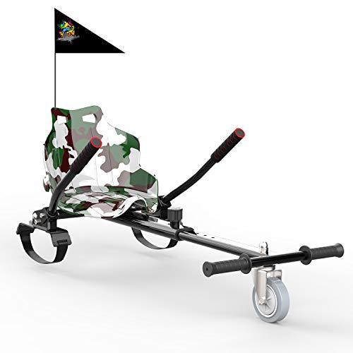 GeekMe Hoverkart, Silla de Scooter Self Balance, Asiento Kart se Adapta a Todos los tamaños patinetes, Regalo para niños.-KT CS (Verde del ejército)