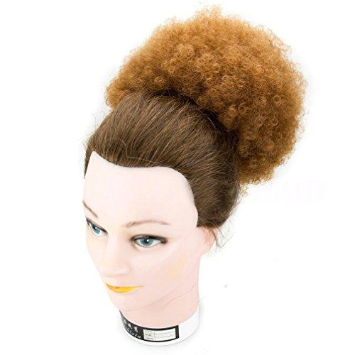 synthétique bouclés Wave Pince à cheveux queue de cheval court Afro crépus frisés Wrap synthétique Cordon de serrage Puff Queue de cheval Extensions de cheveux Perruque pour African American