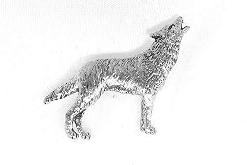 Zinn Wolf Pin Abzeichen oder Brosche Geschenk für Schal, Krawatte, Hut, Mantel oder Tasche