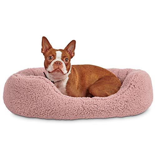 "PETCO Brand - Harmony Pink Cozy Cuddler Dog Bed, 24"" L X 18"" W, Small"
