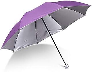 Umbrella Wind Resistant Travel Umbrella with I Light Compact Umbrella I Mini Umbrella Portable Folding Umbrella for Men Women Umbrella (Color : Purple)