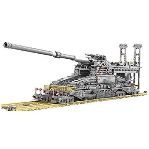 WEERUN Technik Militär Panzer Baustein Set, 3846 Stück 1:72 Dora Cannon Panzer Baustein Modell Weltkrieg klemmbausteine Panzer Kompatibel mit Lego Technik