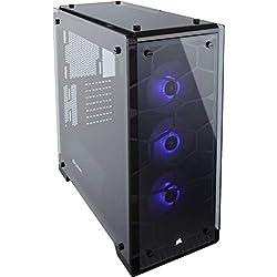 Corsair Crystal 570X Case da Gaming, Mid-Tower ATX, Finestra Laterale Vetro Temperato e Ventole, RGB LED, Nero