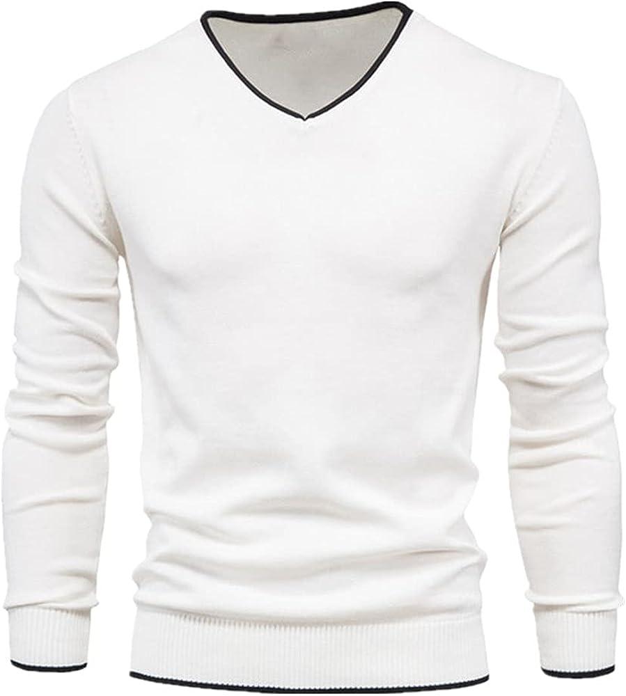 NP Men Autumn Sweater Color Long Sleeve Slim Sweaters Men Navy Knitwear