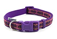 The collar's design features a comic book style Woof Made from strong, lightweight and weather-proof nylon material Long-lasting collar that is comfortable for your dog Quick-release buckle for speedy removal Durable and flexible