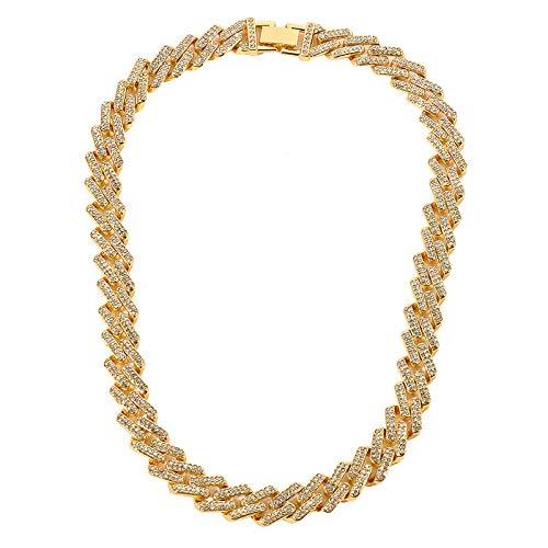 Nuevos Hombres Hip Hop Collar de Cadena de Diamantes Diamante Hip Hop Joyas Combinación de Joyas y Relojes Collares y Colgantes