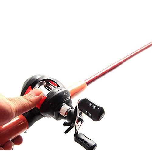 zZZ 1,8 m Straße Aachen/Orange Seefischerboot Pistole/Pistolengriff Superhartes Wassertropfenrad M Einstellbarer Angelsatz Rechtslenker