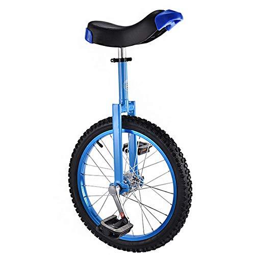 YQG 16/18 Zoll Einrad für Erwachsene, Big Wheel Einrad Einrad Fahrrad für Männer Frauen Jugendliche Jungen Reiter Bestes Geburtstagsgeschenk Blau 45,7 cm
