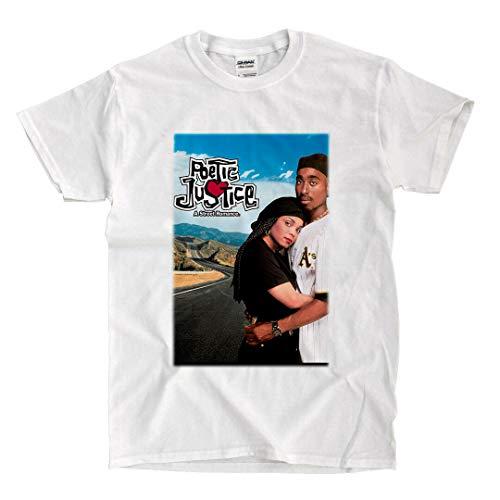 LSL Shirts Poetic Justice - White T-Shirt (Medium)