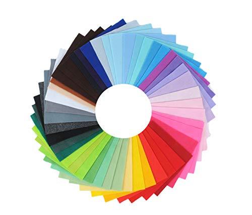 Trimits Paquete cuadrado de fieltro de 42 hojas, Colores variados, 15x15cm, 42 Pack
