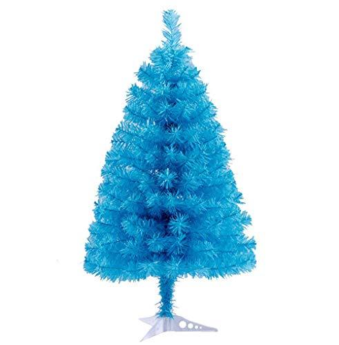 Zinsale Pin de 3ft / 90 cm Sapins de Noël Artificiel avec Support d'arbre Qualité Plastique Décoration d'arbre (Bleu Ciel)