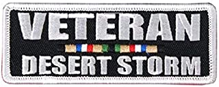 Hot Leathers, DESERT STORM VETERAN, Iron-On / Saw-On Rayon PATCH - 4