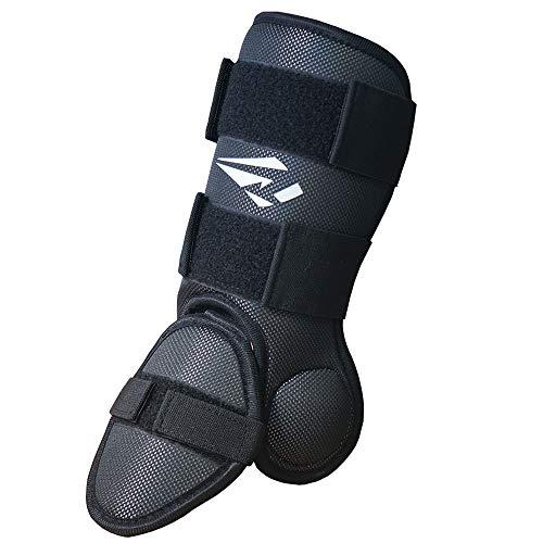 S-basic Baseball Softball Batters Foot Guard, Leg, Shin, and Ankle Guard Protector Black