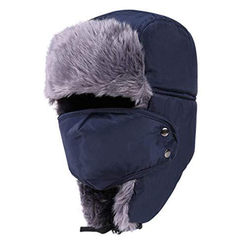Aibrou Unisex Russische wintermuts met oorkleppen, imitatiebont muts, vliegeniersmuts voor skiën