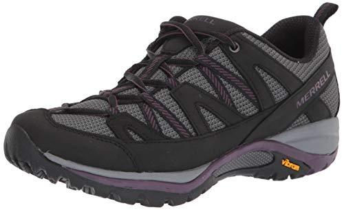 Merrell womens Siren Sport 3 Hiking Shoe, Black/Blackberry, 7.5 Wide US