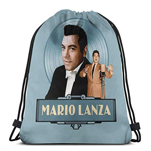 Mario Lanza - The Good Old Days Sport Sackpack Drawstring Backpack Gym Bag Sack
