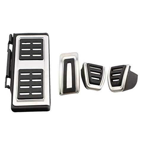 Fußpedal Pedalkappen Autopedale für VW Golf 7 VII GTI MK7 Passat B8 Sitz Leon für Skoda Octavia A7 Schnell für Audi A3 8V Fuß Kraftstoffbremskupplung Pedalkappen (Color Name : 4Pcs MT)