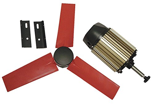 """Multifan 22"""" Corrosion Resistant Exhaust Fan Kit, Number of Blades 5, 1 Phase, Motor RPM 1580-7HX87"""