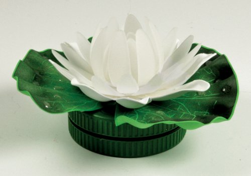 BANBERRY DESIGNS LED Pond Light Floating Lily Pad - Lotus Blossom Flower Color Changing