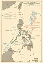 Philippines. Fleet Movements. 1944 Battles of Leyte Gulf & Cape Engano - 1965 - Old map - Antique map - Vintage map - Printed maps of Philippines