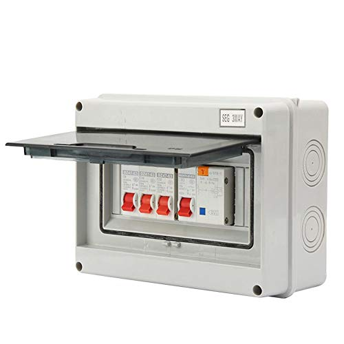 Stromschutzschalter, 3 Wege, 63 A, 30 mA, RCD 3MCB (6A+16A+32A)