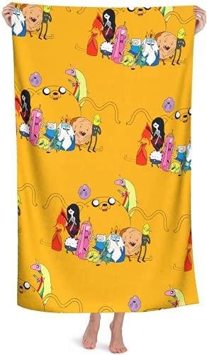 Adventure Time with Finn and Jake - Toalla de playa suave, diseño de princesas Bonnibel (100 x 180 cm)