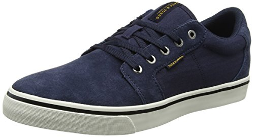 JACK & JONES Herren JFWDANDY Nubuck Sneaker, Blau (Navy Blazer), 45 EU