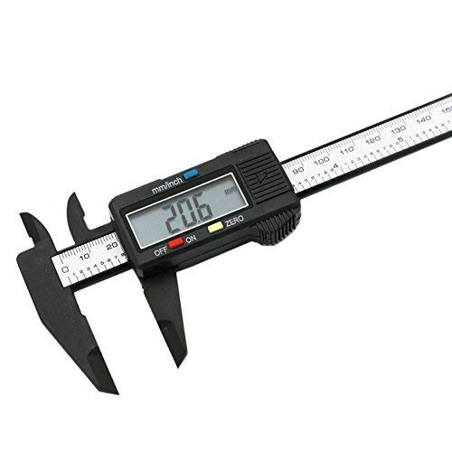 uptodateproducts 150Mm 6Inch Lcd Digital Electronic Carbon Fiber Vernier Caliper Gauge Micrometer