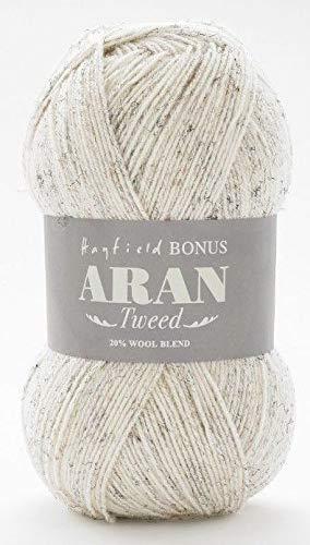 Bonus Aran Tweed per maglieria lana e uncinetto lana morbida e lussuosa Aran Tweed Ball – 400 g 840 m/920y-Sandstorm- 1 palla