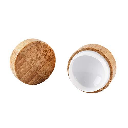 Qinlee bambú Crema Botella Crema Lata Caja nachfüllbare Loción esencias Cara Crema Viajes de Home