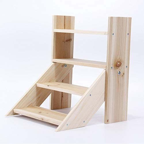 Bloemstandaard van massief hout voor kantoor balkon kantoor kleine houder eenvoudige houder voor bloempot (geschikt voor vetplanten) Hout