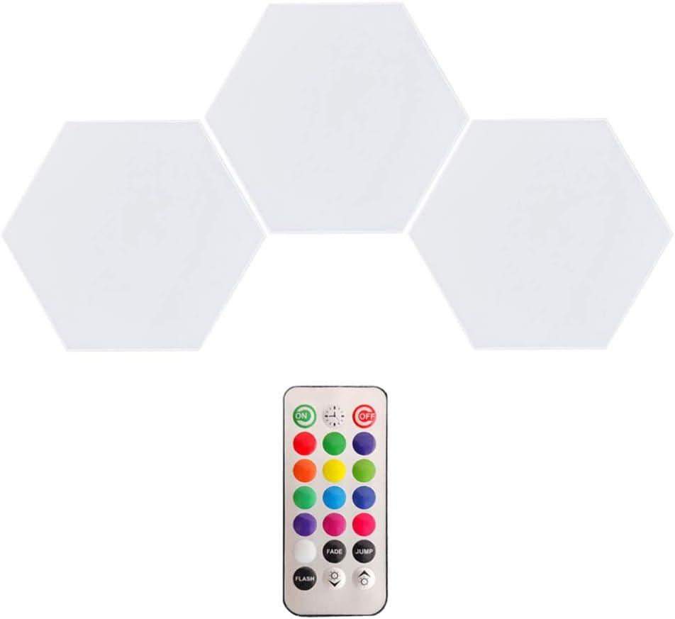 ibasenice Max 74% OFF Hexagon Led Lights- Touch White Intelligent Sensor Regular discount