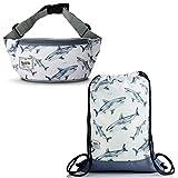 Rawstyle Kombi-Angebot Turnbeutel Sportbeutel + Gürteltasche Hüfttasche für Kinder Design (Modell 17) XX