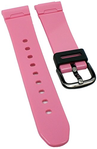 Correa de repuesto para reloj Casio Baby-G de mujer de resina rosa BG-5600LR