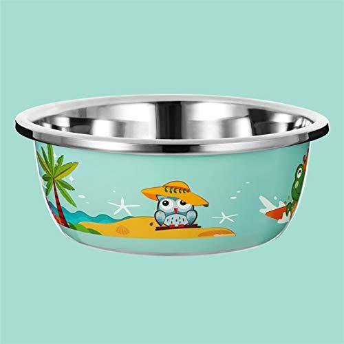 ZXCVB ZHENZEN Houseware Bowl Cuenco de Acero Inoxidable ensaladera Bol para Mezclar Multifuncional Puede Lavar biberones y Frutas. Apilable Reducir el Espacio de Almacenamiento (Size : 30cm)
