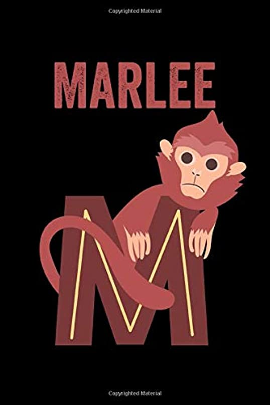 大臣ラップトップ対立Marlee: Journal (Diary, Notebook) Personalized Custom Name Alphabet Monkey Birthday Gift for Girls