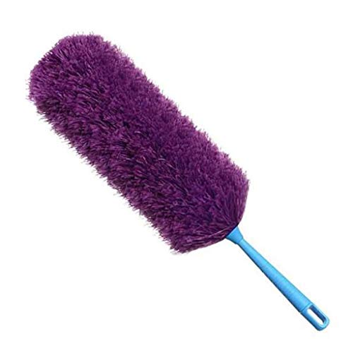 Telescoopsteel Extendable Magic Cleaning Feather Brush, Huis Dust Removal Tool Microvezel Duster Feather Brush,Purple