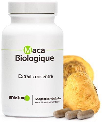 MACA BIO * 500 mg / 120 gélules * Extrait concentré 4:1 * Energie, Équilibre émotionnel, Vitalité