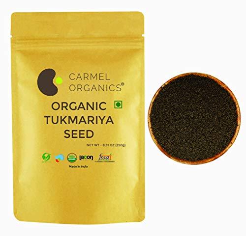 Carmel Organics USDA Certified Basil Seeds / Tukmariya Sabja Seed || 250 Grams