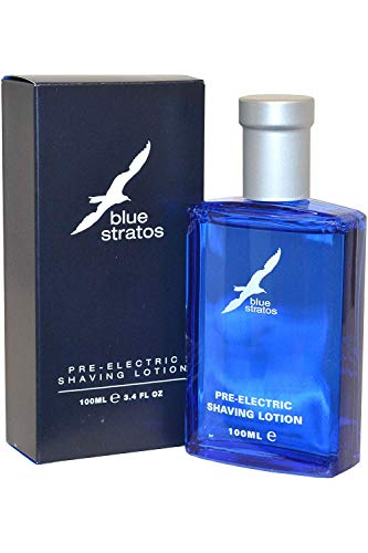 Blue Stratos - Loción para antes de afeitado con maquinilla eléctrica, 100 ml