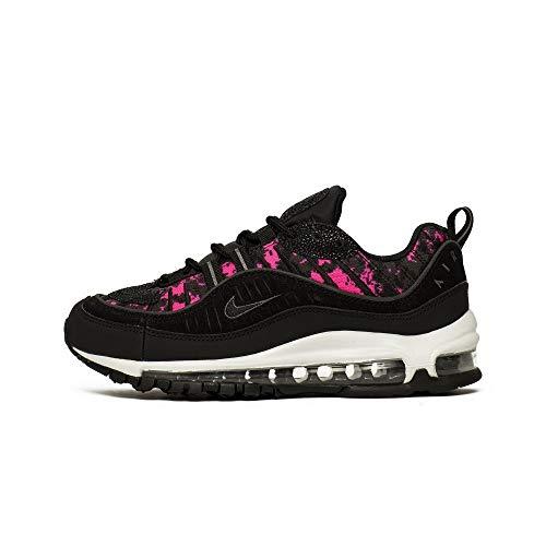Nike W Air MAX 98 PRM, Zapatillas de Atletismo Mujer, Multicolor (Black/Black/Hyper Pink 000), 37.5 EU
