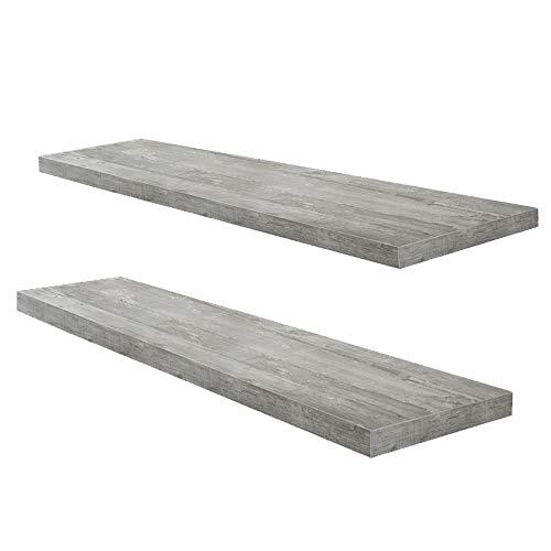 2er-Set 0521_90 Beton0 Grau Optik Wandboard Steckboard Wandregal Hängeregal 90 cm breit