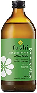 Fushi Amla Juice 500ml   Fresh-Pressed, Wild Harvested Indian Gooseberry   Natural, White   No artificial sweeteners, flav...
