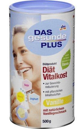 DAS gesunde PLUS Diät-Vitalkost-Drink, Vanille-Geschmack, 0,5 kg