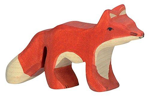cama24com Fuchs klein Holzfigur Holzspielzeug von Holztiger mit Palandi® Sticker