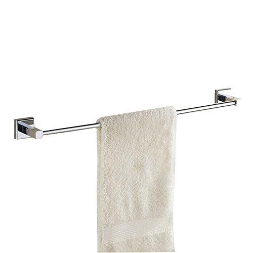 WSWJ Vollkupfer-Einstab-Handtuchhalter Handtuchhalter, ohne Schlag, mehrere Größen verfügbar (Color : Silver, Size : 75cm)