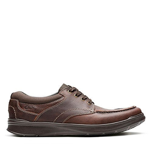 Clarks Cotrell Edge, Zapatos de Cordones Derby para Hombre, Marrón (Brown Oily), 44.5 EU
